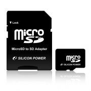 Карта памяти Silicon Power micro SDHC Card 8GB Class 10 + SD adapter SP008GBSTH010V10-SP
