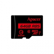 Карта памяти Apacer microSDXC Card Class 10 UHS-I U1 (R85 MB/s) 64GB + SD adapter