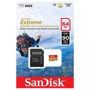Карта памяти SanDisk Extreme microSDXC Class 10 UHS Class 3 V30 90MB/s 64GB