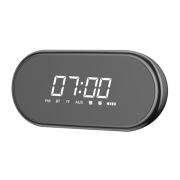 BASEUS Encok 4 in 1 Wireless Heavy Bass Stereo Alarm Clock Bluetooth Speaker E09 black