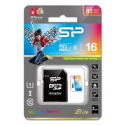 Карта памяти Silicon Power ELITE Colored microSDHC 16GB UHS Class 1 Class 10 + SD adapter
