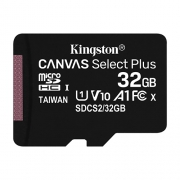Карта памяти MicroSD 32GB Kingston Class 10 Canvas Select Plus A1 (100 Mb/s)