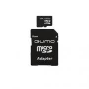 Карта памяти Qumo microSDHC class 10 UHS-I U1 16GB + SD adapter