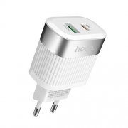 Зарядное устройство Hoco C58A Prominent PD + QC3.0 White