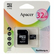 Apacer microSDHC Card Class 10 32GB + SD adapter