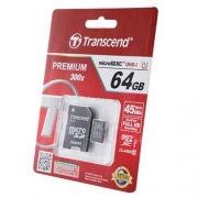 MicroSD64Gb Transcend Class10 TS64GUSDU1