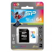 Карта памяти Silicon Power ELITE Colored microSDXC 64GB UHS Class 1 Class 10 + SD adapter