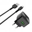 Сетевое зарядное устройство Hoco C70A Cutting-edge EU QC3.0 micro