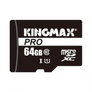 Карта памяти Kingmax microSDXC PRO Class 10 UHS-I U1 64GB + SD adapter