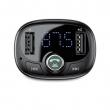 Автомобильное зарядное устройство Baseus T-shape Bluetooth V4.2 MP3 Dual USB Car Charger LED Screen