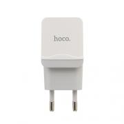 Зарядное устройство Hoco C22A 2.4 A + Lightning кабель white