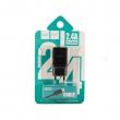 Зарядное устройство Hoco C22A 2.4 A + Lightning кабель black