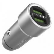 Автомобильное зарядное устройство Ldnio Zinc Alloy Car Charger 2 USB 3.6A + Lightning кабель (C302)