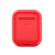Чехол для наушников с беспроводной зарядкой Baseus Case Wireless Charger For Airpods red