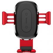 Автомобильный держатель с беспроводной зарядкой Baseus Wireless Charger Gravity Car Mount (Air Outlet Version) red