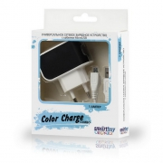Адаптер сетевой SMARTBUY Color Charge Combo 2А черный