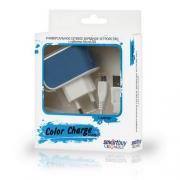Адаптер сетевой SMARTBUY Color Charge Combo 2А синий