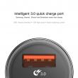 Автомобильное зарядное устройство Baseus Small Screw Type-C PD+USB Quick Charge Car Charger 36W black
