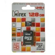 Карта памяти Mirex microSDXC Class 10 UHS-I U1 128GB + SD adapter