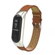 Ремешок для Xiaomi Mi Band 3 Leather Strap brown