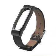 Ремешок для Xiaomi Mi Band 3 Leather Strap black