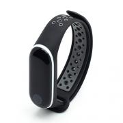 Ремешок для Xiaomi Mi Band 3/4 Nike черно-серый