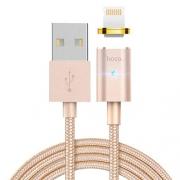 Кабель магнитный Hoco U16 Lightning 1.2m gold