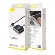 Baseus Square Round 4in1 USB HUB Adapter USB 3.0 - USB 3xUSB 2.0 1m Black CAHUB-AY01