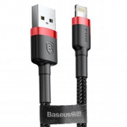 Кабель Baseus Cafule Cable USB - Lightning red+black 1m