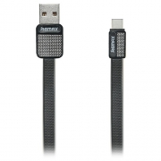 Кабель передачи данных Remax Type-C - USB RC-044a Platinum cable black