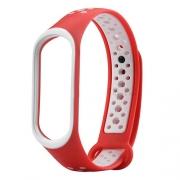 Ремешок для Xiaomi Mi Band 3 Nike красно-белый