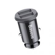 Автомобильное зарядное устройство Baseus Square metal A+A 30W Dual CCALL-DS-01