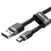Кабель Baseus Cafule USB - microUSB black 1m