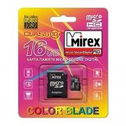 Mirex microSDHC Class 10 16GB + SD adapter