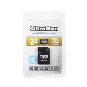 Карта памяти OltraMax  microSDHC Class 10 32GB + SD adapter
