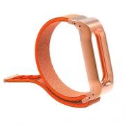 Ремешок для Xiaomi Mi Band 3 нейлон на липучке orange