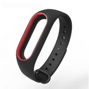 Ремешок для Xiaomi Mi Band 2 черно-красный