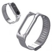 Ремешок Mijobs Milanese strap для Xiaomi mi Band 2 silver