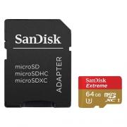 Карта памяти SanDisk Extreme microSDXC Class 10 UHS Class 3 90MB/s 64GB
