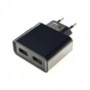 Сетевое зарядное устройство SmartBuy 3A 2xUSB Black