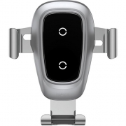 Автомобильный держатель с беспроводной зарядкой Baseus Metal Wireless Charger Gravity Car Mount (Air Outlet Version) Siler