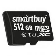 Карта памяти SmartBuy microSDXC Class 10 UHS-I 512GB + SD adapter