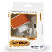 Адаптер сетевой SMARTBUY Color Charge Combo 1А оранжевый