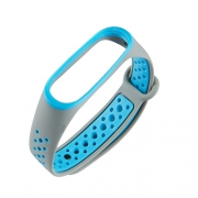 Ремешок для Xiaomi Mi Band 3/4 Nike серо-синий