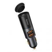Автомобильное зарядное устройство BASEUS Share Together Port, USB+USB, Черный (CCBT-C0G)